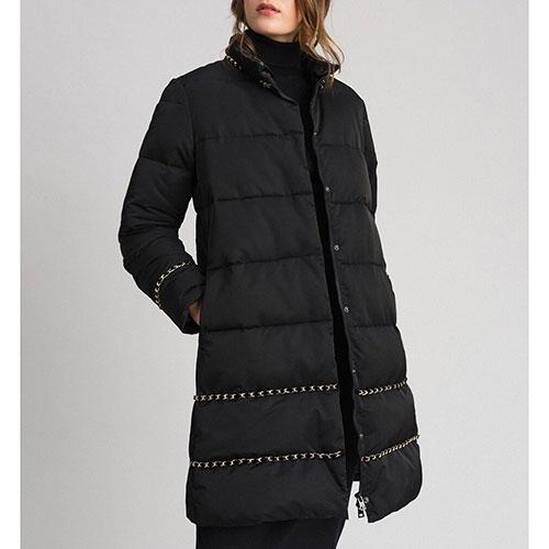 Черная куртка Twin-Set расклешенного кроя, фото