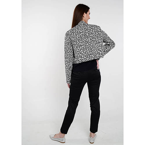 Короткая демисезонная куртка Love Moschino с анималистическим принтом, фото