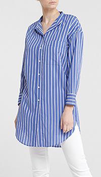 Рубашка Seventy синего цвета в полоску, фото