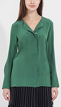 Шелковая блуза Sophie зеленого цвета, фото
