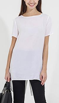 Белая блуза Sophie с коротким рукавом, фото