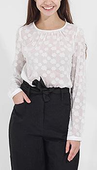 Белая блуза Sophie с круглым вырезом и застежкой сзади, фото