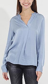 Блуза Tensione in голубая с удлиненной спинкой, фото