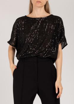 Черная блузка Riani с пайетками, фото