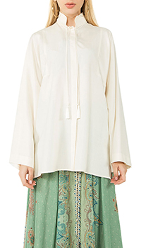 Шелковая рубашка Etro с воротником-стойкой, фото