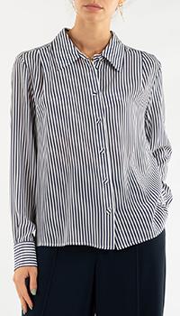 Шелковая блузка Weill в полоску, фото