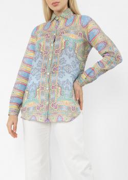 Голубая рубашка Etro с узором, фото