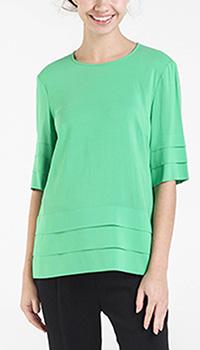 Блуза Shako зеленого цвета со складками, фото