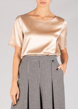 Шелковая блузка Penny Black с коротким рукавом, фото