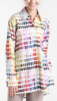 Рубашка Shako с принтом Палитра, фото