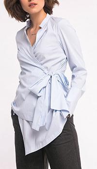 Голубая блузка Shako с асимметричным низом, фото