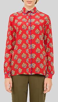 Красная блузка Etro с длинным рукавом, фото