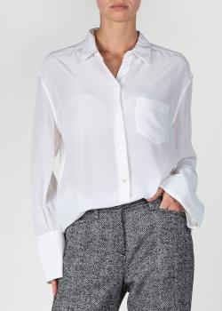 Шелковая рубашка Equipment белого цвета, фото