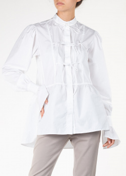 Белая блуза Alexa Chung свободного кроя, фото