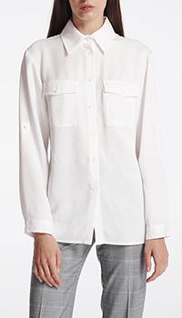 Белая рубашка Shako с накладными карманами, фото