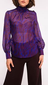Фиолетовая блуза Shako с вырезом на спине, фото
