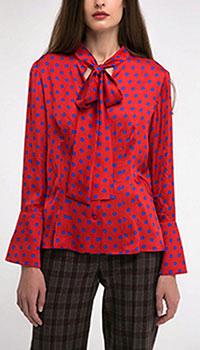 Красная блуза Shako в горошек, фото