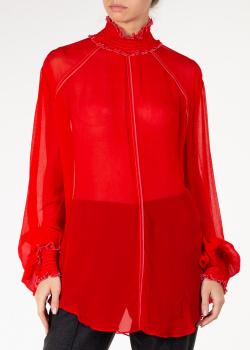 Длинная блуза Nina Ricci с высоким воротником, фото
