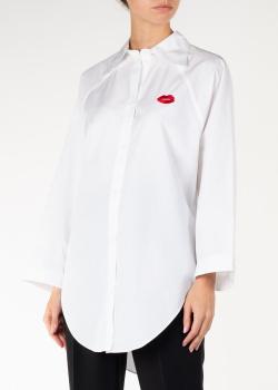 Белая рубашка Nina Ricci с вышивкой, фото