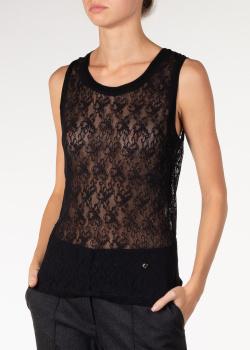 Кружевной топ блуза Nina Ricci черного цвета, фото