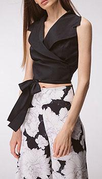 Чёрная блуза Shako на запах, фото