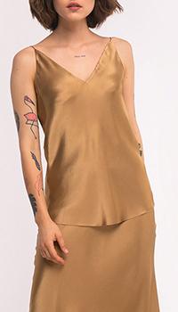 Топ Shako золотистого цвета с V-образным вырезом, фото