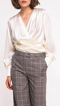 Блузка Shako из шелка ванильного цвета, фото