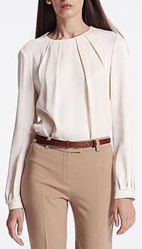 Блуза с защипами Shako бежевого цвета, фото