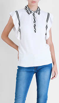 Трикотажная блуза Beatrice.B с объемными короткими рукавами, фото