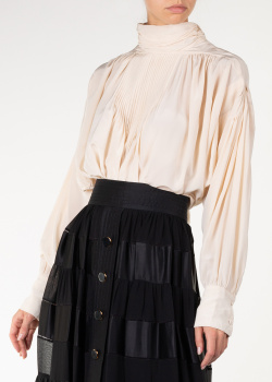 Шелковая блуза Isabel Marant цвета айвори, фото