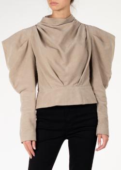 Бежевая блуза Isabel Marant с объемными плечами, фото