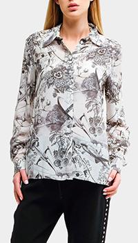 Шелковая рубашка Pinko с принтом, фото