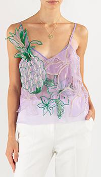 Фиолетовый топ Pinko с изображением ананаса, фото