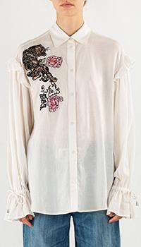 Белая рубашка Pinko с вышивкой, фото