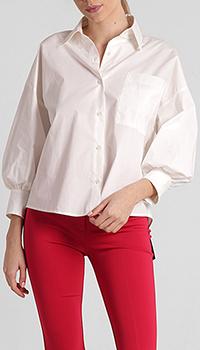 Женская рубашка Pinko белого цвета, фото