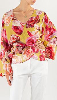 Блузка Pinko с цветочным принтом, фото