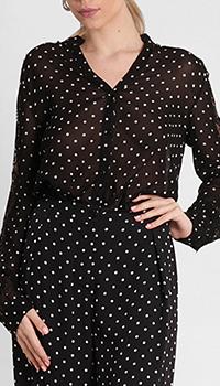 Рубашка Pinko в горошек черного цвета, фото