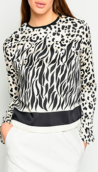 Блузка Pinko с животным принтом, фото