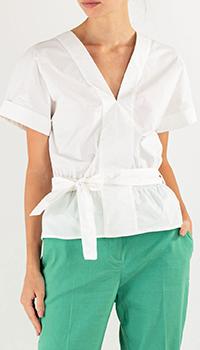 Белая блузка Pinko с пышными рукавами, фото
