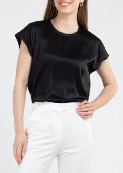 Шелковый топ Pinko черного цвета, фото