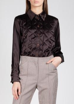 Шелковая рубашка Nina Ricci с фигурной стежкой, фото