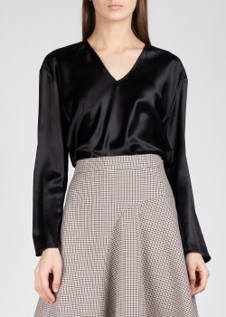 Шелковая блуза Nina Ricci черного цвета, фото
