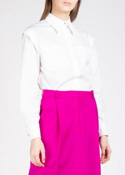 Белая рубашка Alberta Ferretti с накладными карманами, фото