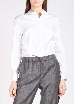 Белая рубашка Fabiana Filippi с полосой на воротнике, фото