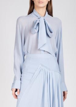 Шелковая блуза Rochas с бантом, фото
