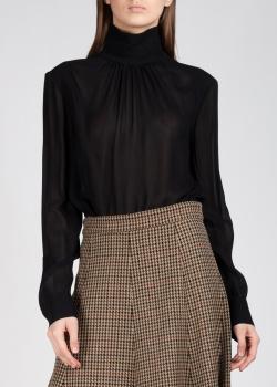 Черная блуза Rochas с открытой спиной, фото