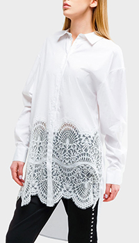 Рубашка-туника Twin-Set белого цвета, фото