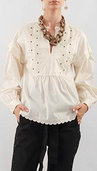 Белая блуза Twin-Set с вышивкой, фото