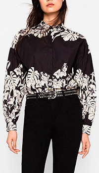 Рубашка Twin-Set с цветочным принтом, фото