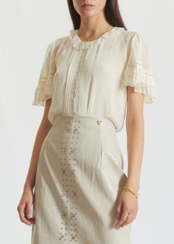 Блуза Twin-Set с ажурной вышивкой, фото